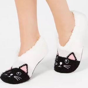 Charter Club Fleece Lined Cat Slipper Socks L/XL